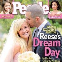 Rosa y radiante va la novia....el vestido de boda de Reese Witherspoon.
