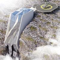 Propuestas de hoteles en lugares locos: Andrii Rozhko en una ladera de Los Alpes