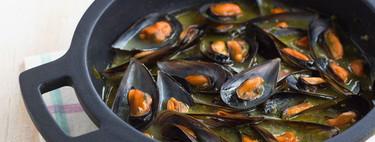 Mejillones en salsa verde, receta básica, deliciosa y económica