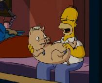 Homer y su cerdo