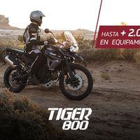 ¡Corre! Hasta 2.500 euros de equipamiento si te haces con una Triumph Tiger antes de la primavera