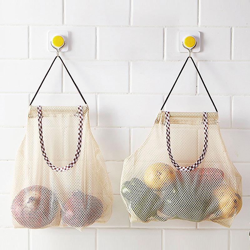 Almacenamiento colgante organizador de ajo y cebolla red bolsa de almacenamiento de verduras accesorios de cocina cesta organizadora