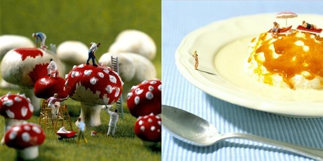 Minimiam - comida gigante, seres diminutos