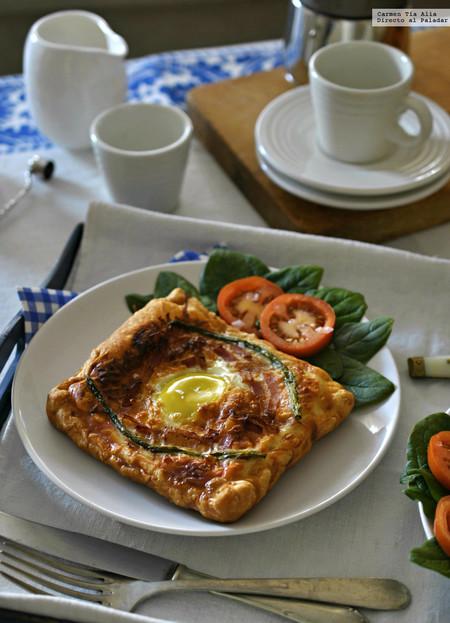 tarta de beicon y huevo