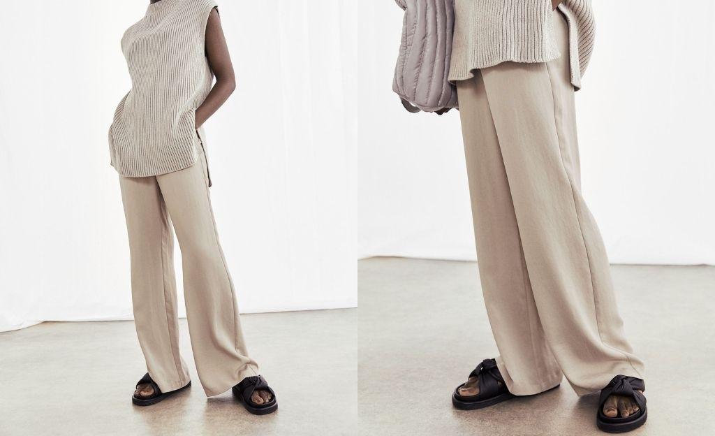 Pantalón amplio con lyocell