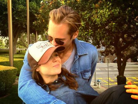 Muero de <del>amor</del> envidia con esta foto de Alex Skarsgard y Ellen Page