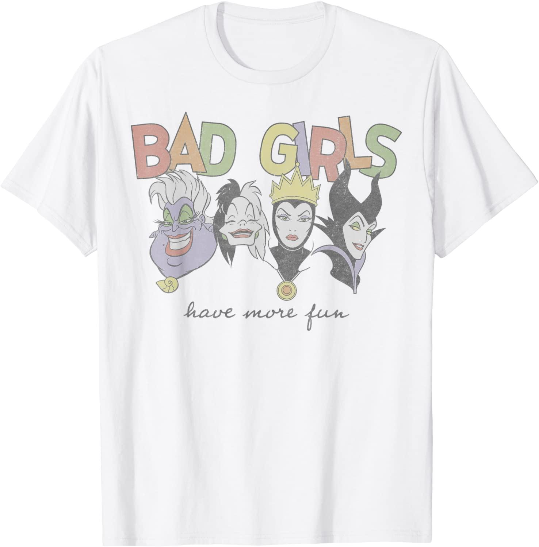 Disney Princess Villains Bad Girls Have More Fun Camiseta