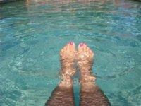 Abdominales para hacer en la piscina