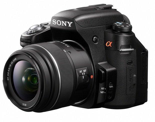 Sony A560 de lado