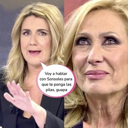 """Carlota Corredera defiende sin miedo a Rocío Carrasco y estalla contra Rosa Benito: """"La has liado"""""""
