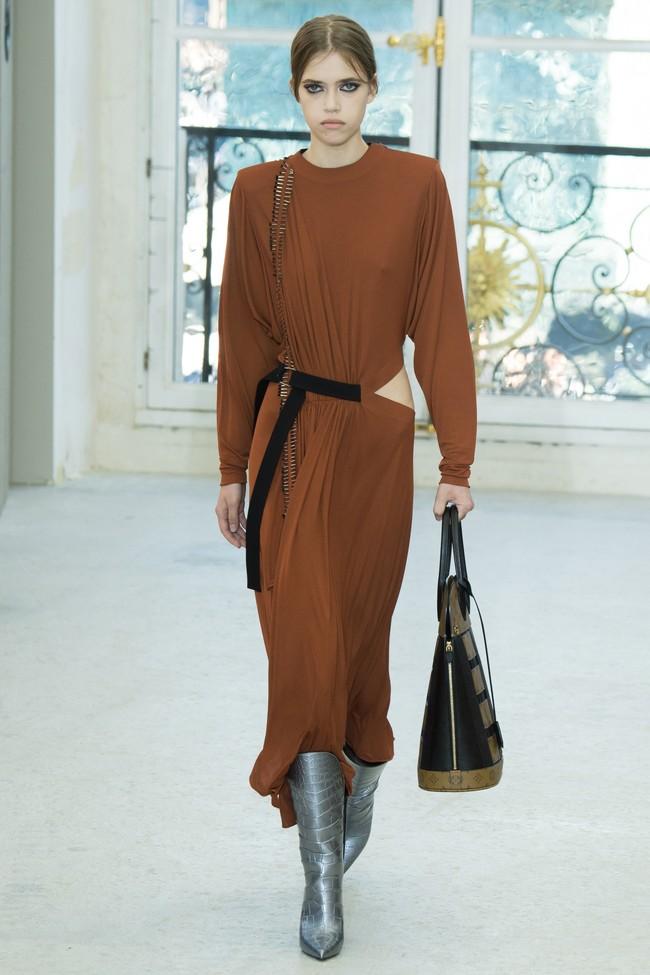 Louis Vuitton Vestido Camel Clon Stradivarius 1