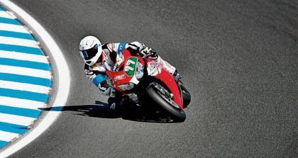 Schumacher y su gafe particular con las motos