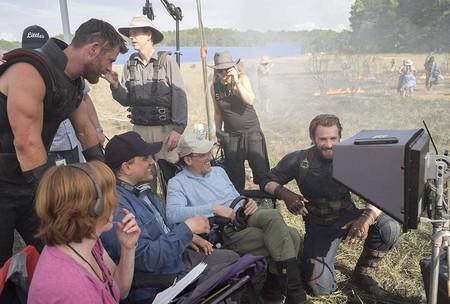 Los hermanos Russo en el rodaje de Infinity War