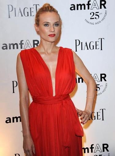 Diane Kruger cual diosa griega en la Gala amfAR