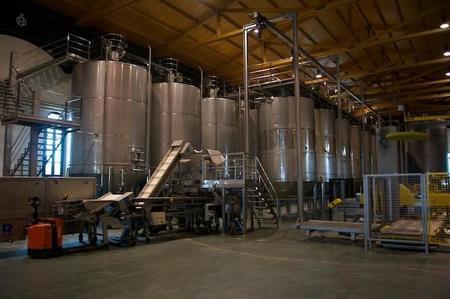 Depósitos de acero inoxidable para fermentar el vino