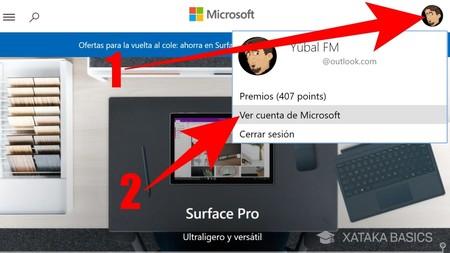 Ver Cuenta De Microsoft