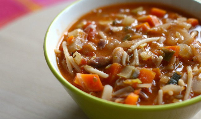 Reconfortante sopa para recuperar la salud