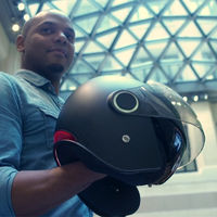 El casco de moto KSH contará con aviso automático de emergencia en caso de accidente, una alternativa al sistema ECALL de BMW