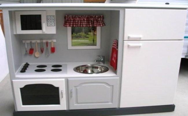 Un mueble de televisor convertido en cocina de juguete - Televisor para cocina ...
