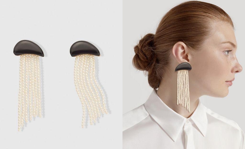 Pendientes El Corte Inglés flecos de perlas