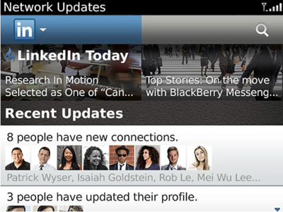 LinkedIn se actualiza en BlackBerry