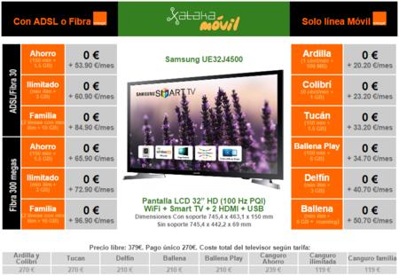 Precios Samsung Ue32j4500 Orange
