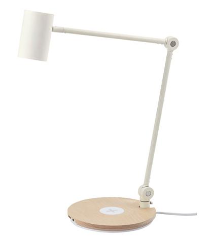 Lámpara de mesa de carga inalámbrica de Ikea