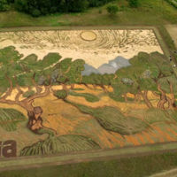 Esta es la reproducción más grande (en tamaño y mérito) a una pintura de Van Gogh