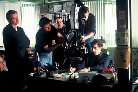 Nolan durante el rodaje de Insomnio