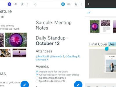 Dropbox Paper disponible en Google Play: cuidado Google Drive y Evernote