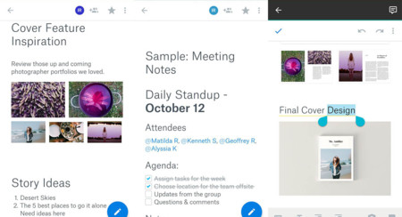 Dropbox Paper disponible en Google Play: cuidado Google Drive y Evernote