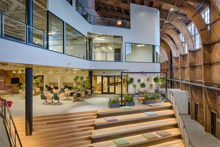 Googles New L A Office By Zgf Architects In California Stairs With Seating