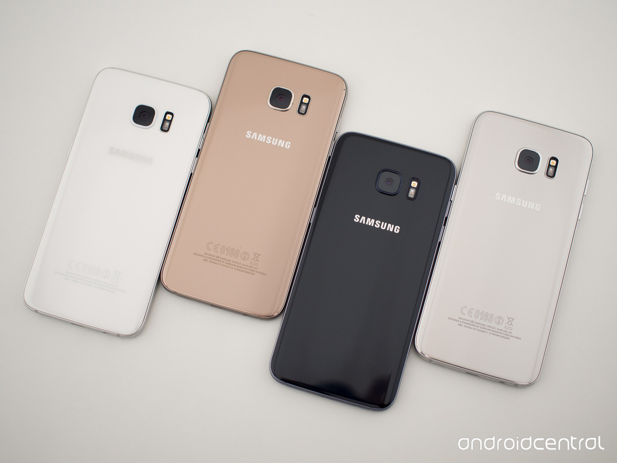 9b03b45a1f58c Los cuatro colores del Samsung Galaxy S7 de cerca