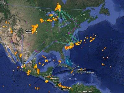 Este increíble mapa te muestra todos los rayos que caen en la Tierra a tiempo real