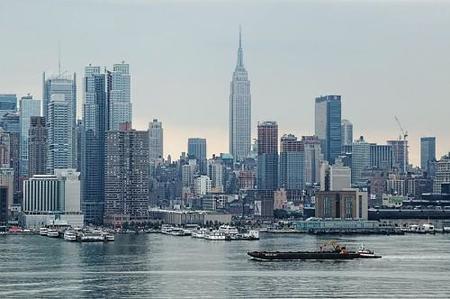 El skyline de Nueva York desde Hamilton Park en Nueva Jersey