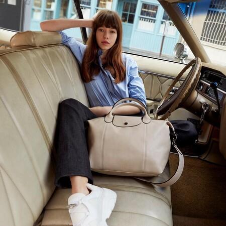 Este bolso de Longchamp se transforma en bolsa de fin de semana y es comodísimo para viajar