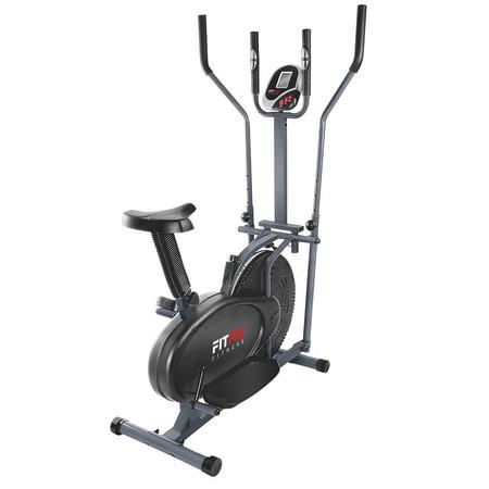 Por 79,99 euros podemos ponernos en forma en casa con la bicicleta elíptica estática  con pantalla LCD y pulsometro de Fitfiu