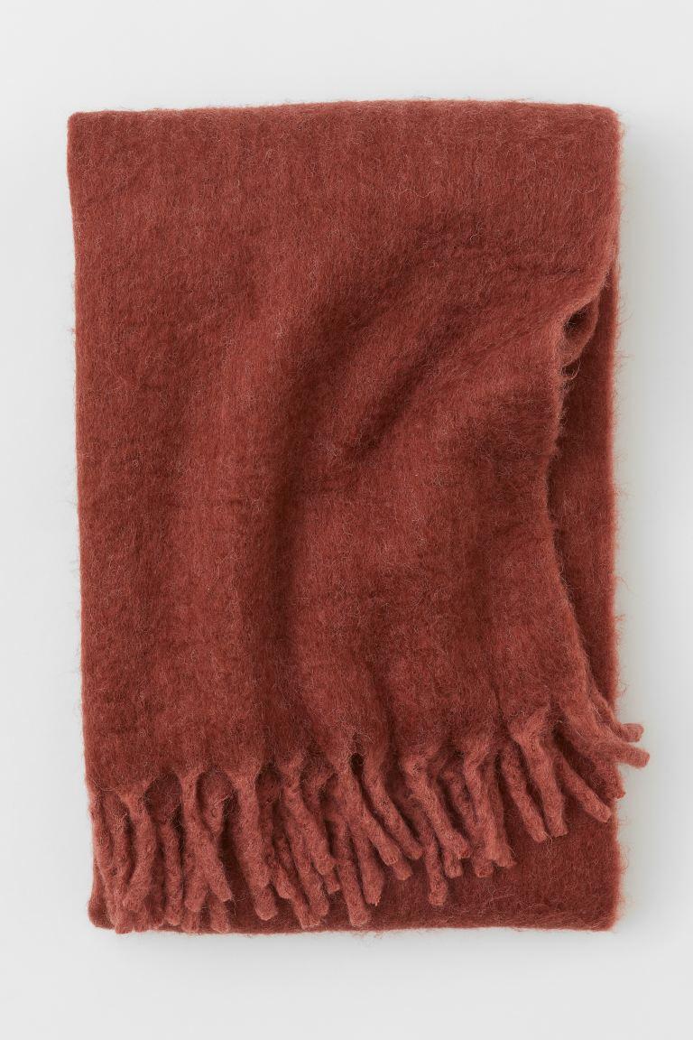 Manta en mezcla de lana suave