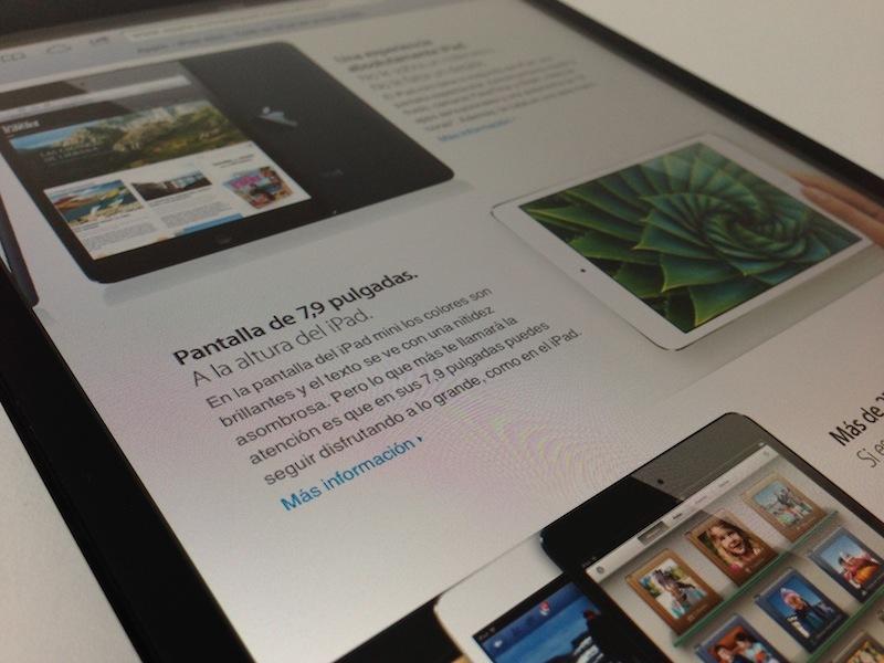 Capturas de la pantalla del iPad mini