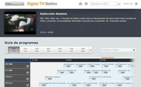 Selección de grabación y visualización de programas de TV en un navegador
