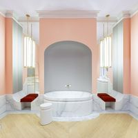 Más sofisticado imposible: Mármol, oro y rosa. Las claves del baño de Jacob Delafon y Alexis Mabille