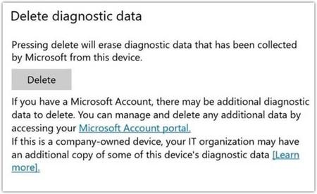 Eliminación de datos de diagnóstico