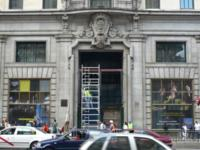 Edificio Telefónica en Madrid efectívamente en obras