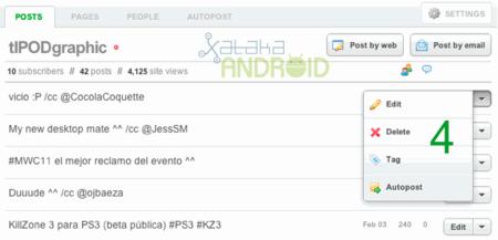 Tumblelog en Android