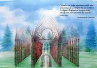 Italia: se inauguró una catedral verde hecha de troncos y ramas