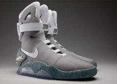 carpintero Vista Es barato  Nike Mag, los tenis de 'Volver al Futuro II' son reales y llegarán en 2016;  así lucen