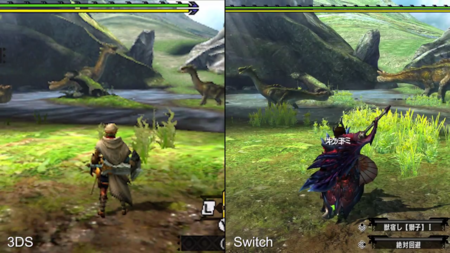 Monster Hunter XX: compara tú mismo las diferencias entre 3DS y Nintendo Switch
