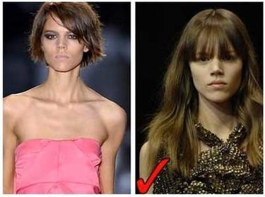 Nuevos cortes de pelo, las modelos cambian para la próxima temporada