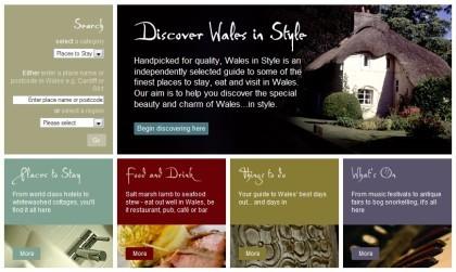 Wales in Style: guía selecta independiente de Gales