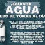 ¿Cuánta agua debo de tomar al día? Infografia